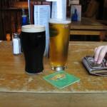 jasne i ciemnie piwo z dublina